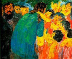 """""""Jesus e as Crianças"""", por Emil Nolde (1910)"""