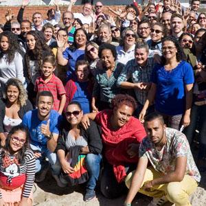 Culto de lançamento da pedra fundamental em Santana de Parnaíba